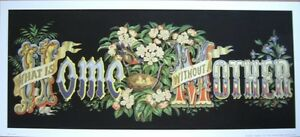 art-print-What-is-HOME-without-a-MOTHER-bird-nest-flower-Victorian-vtg-repr-18x8