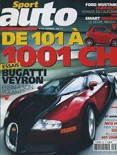 SPORT AUTO n°526 de Novembre 2005 BUGATI VEYRON MASERATI MC12 FIA 407 coupé