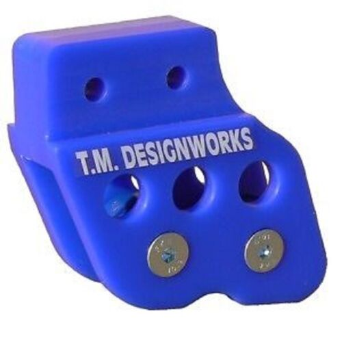 TM Designs Yamaha Banshee 350 atv rear chain guide BLUE dual rollers