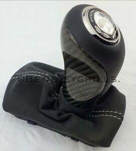 Mercedes-R230-SL-W219-C219-CLS-Carbon-Fiber-Keyless-Go-Gear-Shifter-Knob