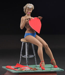 Pin-Up-St-Valentine-039-s-Day-Women-80mm-Painted-Tin-Toy-Soldiers-Andrea-Girls