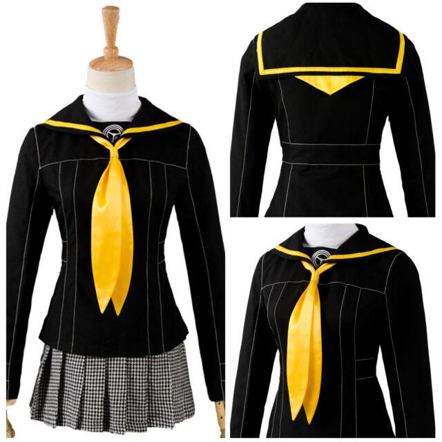 Shin Megami Tensei Persona 4 Costume School Uniform Kujikawa Rise Cosplay Suit | eBay