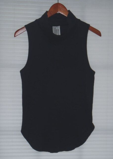 170d41ae823b1 People Black Sleeveless Mock Turtleneck Tunic Top Size XS for sale ...
