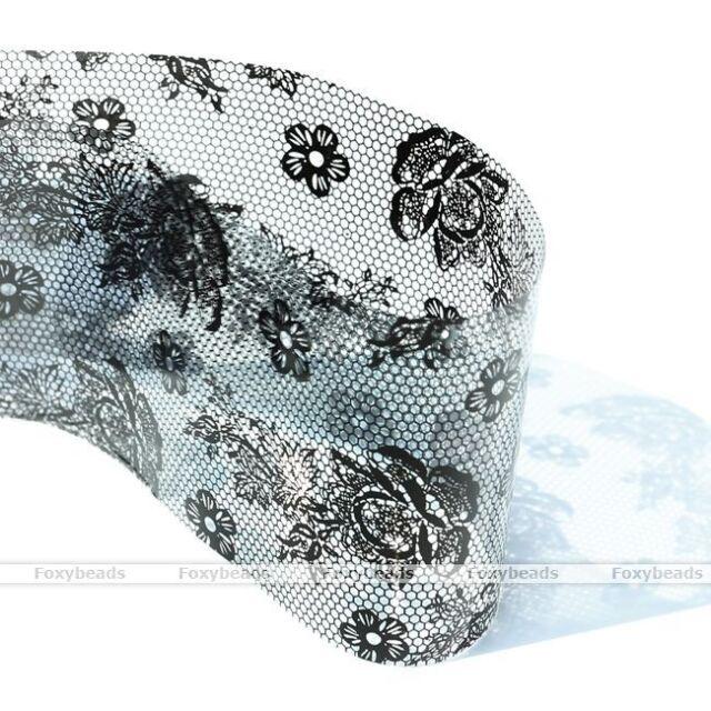 1p Gray Flower Galaxy Nail Art Transfer Foil Nail Sticker Tip Decal Decoration