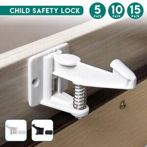 Vis Child Safety Catch Enfant Serrure Porte D/'armoire Serrure de Tiroir captures