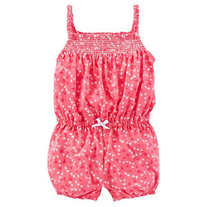 21d076cf867a Carter s Baby Girls  Cherry Print Jersey Romper 6M New with Tag ...