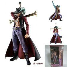 7'' Anime Figma One Piece Movable Dracule Mihawk  Action Figure Toy Figurine