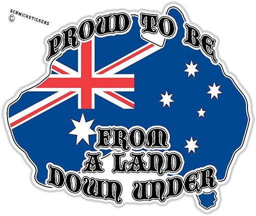 AUSSIE PRIDE LAND DOWN UNDER SOUTHERN CROSS AUSTRALIAN FLAG INFIDEL STICkER