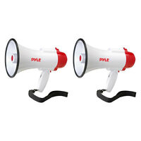 Pyle Pro Megaphone Bull Horn With Siren And Voice Recorder, 2 Pack   Pmp35r on sale