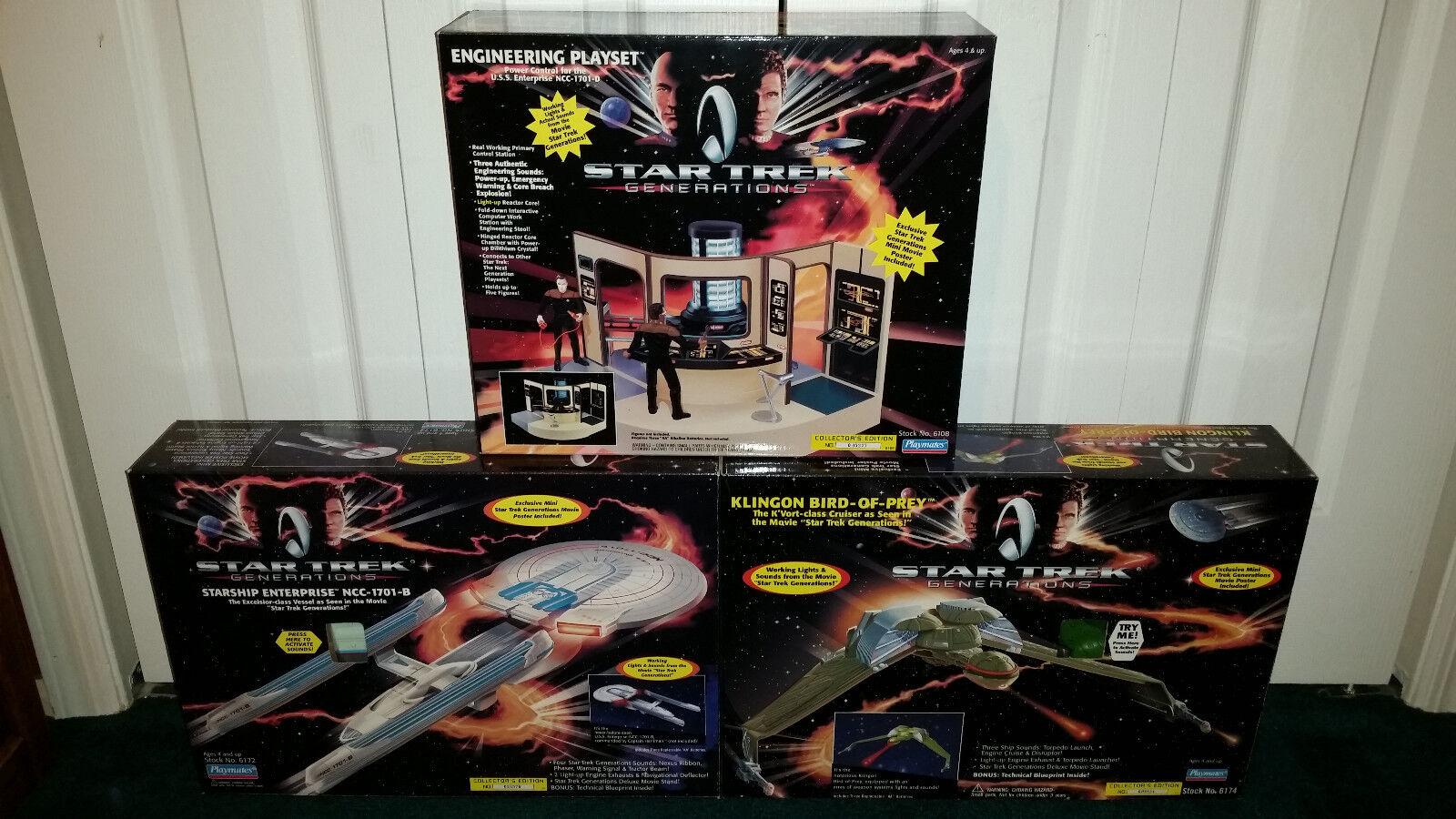 Starship Enterprise + Klingon Bird-Of-Prey + Engineering Star Trek Generations