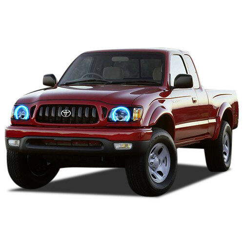 Bluetooth RGB Multi-Color LED Halo Ring Headlight Kit for Toyota Tacoma 01-04