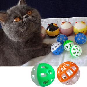 18pcs Pet Dog Cat Kitten Play Ring Ball With Jingle Bell