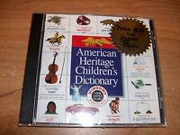 American Heritage Children's Dictionary Windows Cd Rom Create Animate Educate