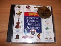American Heritage Children's Dictionary Windows Cd Rom Create Animate Educate
