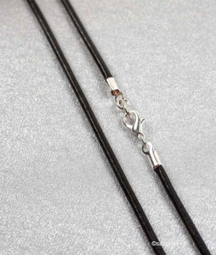 Cadena cuero tras mass 3mm colgante cuero cuello cadena cuero cuero cadenas collar mas