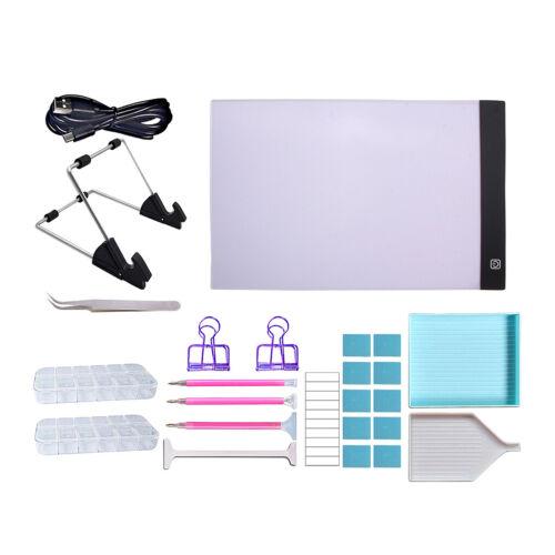 5D Diamant Malwerkzeuge Kit A4 LED Licht Tablet Board Pad Mit Adapter