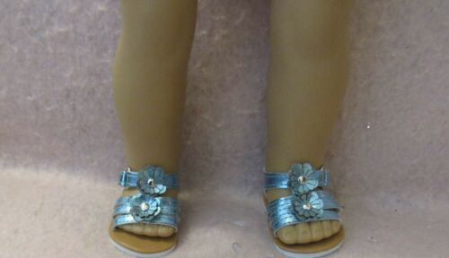 Teal Flower Sandals fit American Girl Doll 18 Inch Clothes Seller lsful