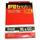 3M FILTRETE 68710-6 PK (3) VACUUM CLEANER BAGS XL & CC ORECK 0126276