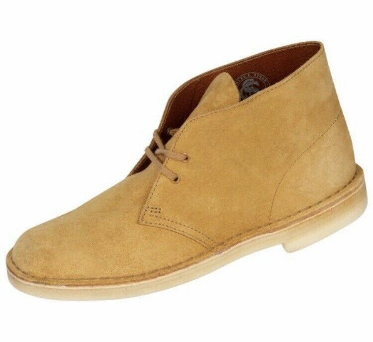 NIB MENS SIZE 8 CLARKS DESERT CASUAL SUEDE BOOTS SHOES OAK SAGE 38233