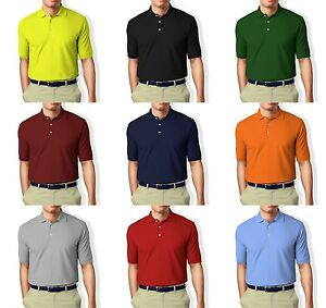 Collar-Polo-T-Shirt-Polyester-Unisex-Black-Blue-Red-Navy-PINK-Grey-White-Green