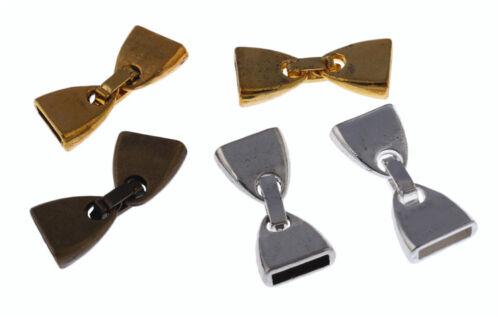 10//sets Cordon Cuir Fin Cap Bead Fit 9.5*2.5mm 5 couleurs charme bijoux