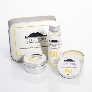 2-The-Nines-Moustache-Wax-Beard-Oil-amp-Balm-Grooming-Kit-Vanilla-amp-Mango
