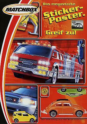 Intelligent Poster Stickerposter Matchbox Modellautos 2002 Modellauto Poster-prospekt