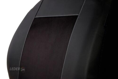 Skoda Fabia  II BJ 2007-2014 Maß Sitzbezüge Sitzbezug Kunstleder schwarz
