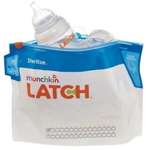 Image Is Loading Munchkin Microwave Steriliser Bags Baby Bottle Latch 6
