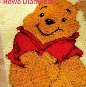DIY-Disney-Winnie-the-Pooh-Bear-Cute-Make-your-own-Latch-Hook-Rug-Unique-Gift-UK