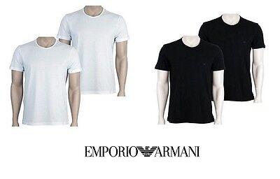 2 T-shirt Uomo Emporio Armani In Cotone Art. 111647-cc722 Colore E Misure A Scel
