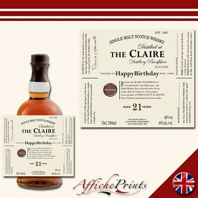 Personalised Engraved Haig Club Whisky glass Add your text.Christmas Birthday87