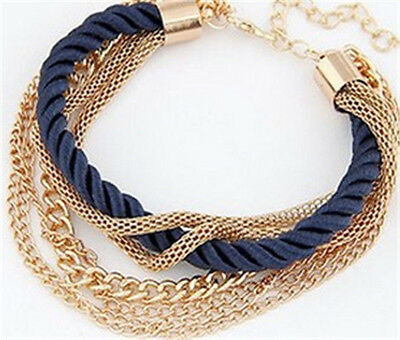 New Women's Fashion Style Bracelet Gold Rhinestone Bangle Charm Cuff Jewelry