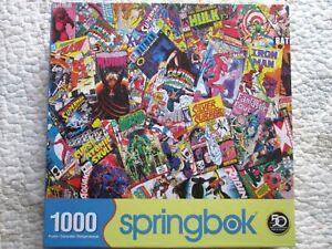 SPRINGBOK-Comic-Books-Captain-America-Batman-Aquaman-Superman-Jigsaw-Puzzle-1000