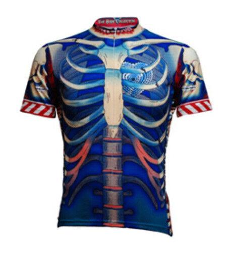 Primal Wear Bone Collector Blue Skeleton Cycling Jersey Mens + Sox bike bicycle