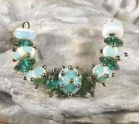 Lgl Handmade Lampwork Beads- Cupcake Nc1232- Sra - Loose Craft Jewelry Metallic