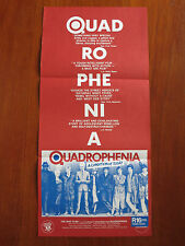 QUADROPHENIA Original Australian Daybill Movie Poster The Who Mods vs Rockers