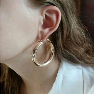 Women-Vintage-Punk-Gold-Big-Hoop-Large-Round-Circle-Earrings-Jewellery-2019
