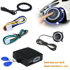 12V-Car-Engine-Push-Stop-Button-Ignition-RFID-Keyless-Remote-Alarm