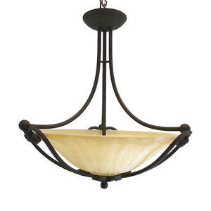Kalco illucio 3 light bowl chandelier with amber glass rembrandt image is loading kalco illucio 3 light bowl chandelier with amber aloadofball Images