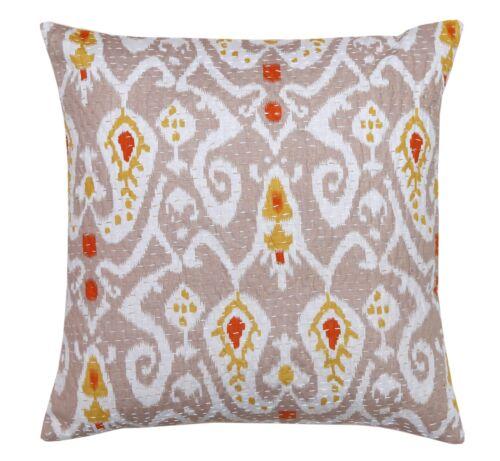 IKAT Brodé Housse de Coussin Canapé Couch Pillow Throw Indian Ethnic Home Decor