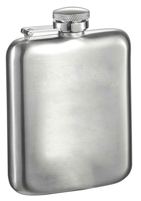Visl Vf6025 Visol Handle Stainless Steel 5 5 Ounce Chrome Mirrored Flask With B For Sale Online Ebay