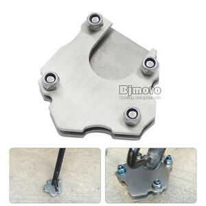 Image is loading Universal-Motorcycle-Side-Kickstand-Stand -Enlarger-Foot-Pad-  sc 1 st  eBay & Universal Motorcycle Side Kickstand Stand Enlarger Foot Pad ...