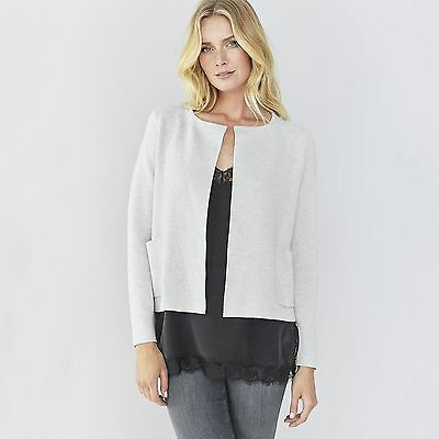 Karida cardigan jacket top sizes12 14 16 plus 24 26 black silver swirls sparkle