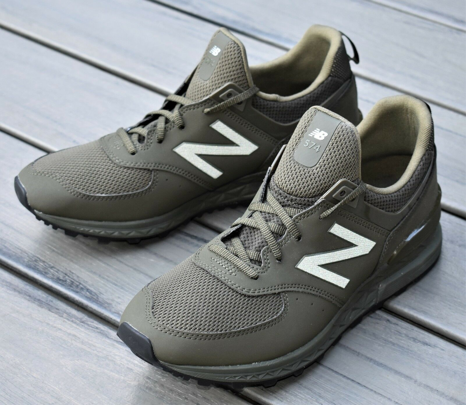 NB NEW BALANCE 574 SPORT LIFESTYLE NEW MEN'S FASHION SNEAKER SHOES OLIVE GREEN