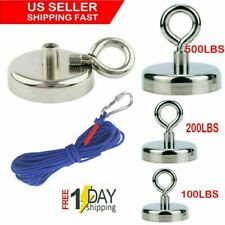 Us Fishing Magnet Kit Up 100 500 Lb Pull Force Super Strong Neodymium10m Rope