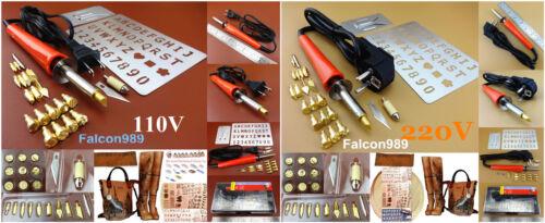 110 V 220 V Leather Craft Pyrogravure Bois Burning Pen fer à souder outil set kit