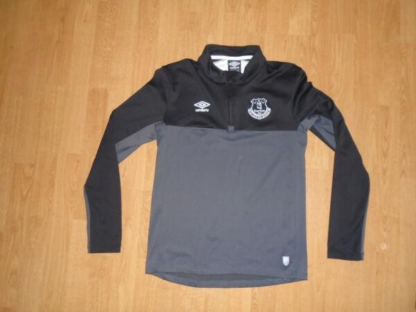 A Maniche Lunghe Everton Camicia Di Formazione Per 13-14 Anni/xlb, Umbro, In Buonissima Condizione, Regno Unito Consegna Gratuita