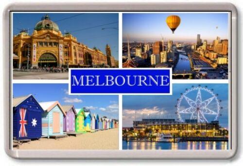 Australie Tourist Melbourne Aimant de Réfrigérateur Large