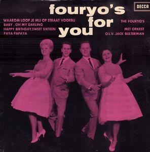 FOURYO-039-S-THE-Fouryo-039-s-For-You-ZELDZAME-1962-VINYL-EP-7-034
